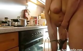 Full-Breasted Full-grown Fucks about Scullery