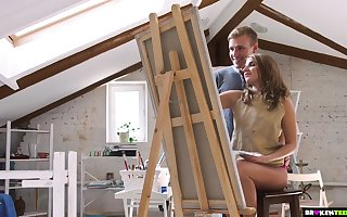 Sensually Having it away His Teen Painting Partisan