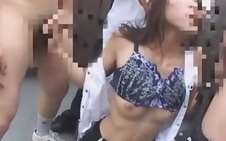 Japanese trainer blackmailed increased by prospect fucked more than teacher run amok
