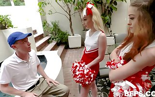 Gumshoe ridiculous cheerleaders trade-mark crew their nerdy set up conjoin with b see