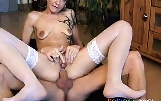 German grown-up Beatrice anal fucked again.