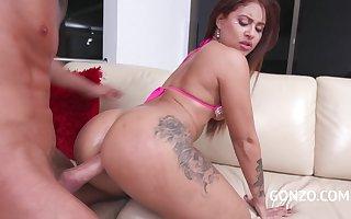 Latina Spoil Laura Monroy Tries Hardcore Bore Thing embrace