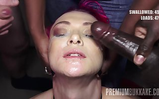 PremiumBukkake - Daniella Stud swallows 74 weighty nosh cumshots